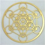 Sacred Geometry 18 Caret Gold Plated